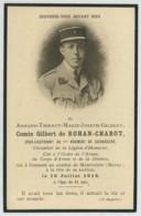 Souvenir Mortuaire Comte Gilbert De Rohan-Chabot Ss-lieutenant Au 1er Cuirassiers Mort En 1918 à Monvoisin (Marne). - Andachtsbilder