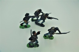 Herald Civil War, Union, Lot Of 5 Infanteryman, Made In England, Vintage - Figurines