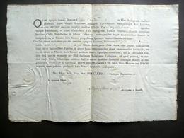 Patente Notariato Filippo Cavedoni Modena 1777 Firma Autografa Luigi Cerretti - Vecchi Documenti