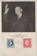 René COTY  Président De La République - Carte Premier Jour 17 Décembre 1953 - Congrès SouParlement  De Versailles. - Personaggi