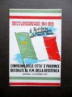 Cartoncino Decimo Anniversario Resistenza 1943-53 Città Decorate Modena Raro - Vecchi Documenti