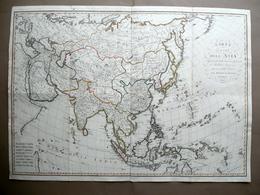 Carta Generale Dell'Asia Per Scuole Del Regno D'Italia Bordiga 1813 Geografia - Altre Collezioni