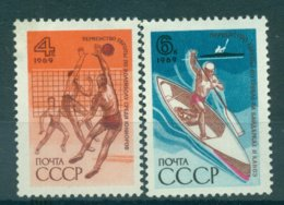 URSS 1969 - Y & T N. 3508/09 - Championnats Européens - 1923-1991 USSR