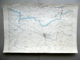 Carta Topografica Ferrara Occhiobello Bondeno Litografia Corbetta Milano 1870-80 - Altre Collezioni