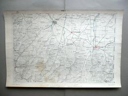 Carta Topografica Forlì Cesena Forlimpopoli Litografia Corbetta Milano 1870-80 - Altre Collezioni