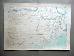 Carta Topografica Codigoro Provincia Ferrara Litografia Corbetta Milano 1870-80 - Altre Collezioni