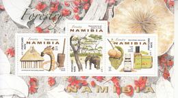 2016 Namibia Forestry Producrs Elephant Giraffe Souvenir Sheet  MNH - Namibia (1990- ...)