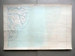 Carta Topografica Bocche Del Po Goro Tolle Litografia Corbetta Milano 1870-80 - Altre Collezioni