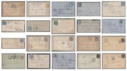 France 1875/1900 - Lot De 20 Lettres Avec Oblitérations Ferroviaires - TB - Poststempel (Briefe)