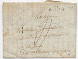 1825  - VAR - LETTRE De AUPS MARQUE LINEAIRE IND 11 => SIGNES - Marcofilia (sobres)