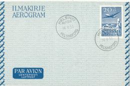 Finland Aerogramme 20 Mk. Helsinki 14-4-1991 (FDC?????) - Postal Stationery