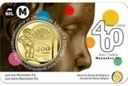 """Belgie 2019   2,50 Euro  """"400 JAAR MANNEKE  PIS""""   Version Français     In Coincart   Extreme Rare !!! - Belgique"""