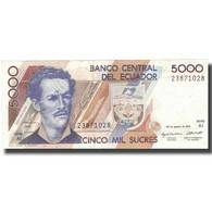 Billet, Équateur, 5000 Sucres, 1993, 1993-08-20, KM:128a, SUP - Ecuador