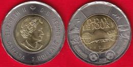 """Canada 2 Dollars 2019 """"75th Ann. Of D-Day"""" BiMetallic UNC - Canada"""