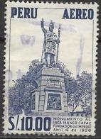 PERU 1962 Manco Capac Monument - 10s - Blue FU - Peru