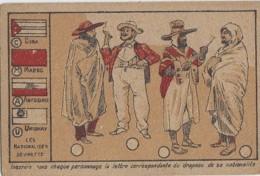 Chromos - Chromo - Pays - Devinette Nationalités - Drapeaux - Cuba Maroc Abyssinie Uruguay - Purgalol Niort - Chromos