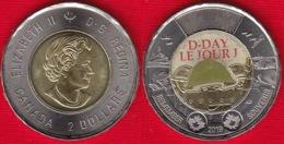 "Canada 2 Dollars 2019 ""75th Ann. Of D-Day"" BiMetallic Coloured UNC - Canada"