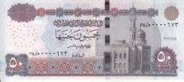 EGYPT 50 POUNDS EGP 2016 P-66 SIG/T.AMER #24 LOW SERIAL 0000XXX UNC */* - Aegypten