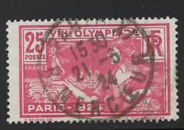 Yvert 184 Maury 184 - 25 C Rouge JO - O - Gebraucht