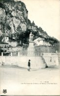 CPA - NICE - LES ROCHERS DU CHATEAU ET STATUE CHARLES FELIX - Monuments, édifices