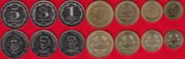 Tajikistan Set Of 7 Coins: 5 Diram - 5 Somoni 2019 UNC - Tajikistan
