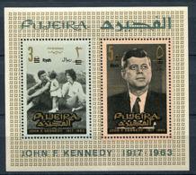 B 16) Fujeira ** Bloc Michel N° 1 A - J.F. Kennedy - Fudschaira