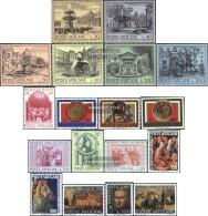 Vatikanstadt 657-674 (complete Issue) Volume 1975 Completeett Unmounted Mint / Never Hinged 1975 MonumentAl YeArs, Pente - Vatican