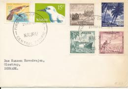 Nauru FDC 25-5-1966 Complete Set Of 6 Sent To Denmark - Nauru
