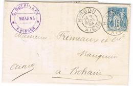 CAD DE HIRSON  SUR LAC - Storia Postale