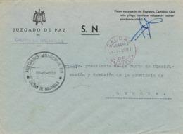34251. Carta S.N. Franquicia Juzgado Municipal CALDAS De MALAVELLA (Gerona) 1959. Fechador Caldas - 1931-Hoy: 2ª República - ... Juan Carlos I