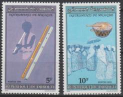 Djibouti Dschibuti 1993 Mi. 591 - 592 Instruments De Musique Music Musikinstrumente - Musique