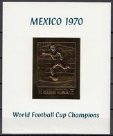 Football / Soccer / Fussball - WM 1970:  Ras Al Khaima  Goldblock **, Imperf. - Coppa Del Mondo