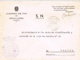 34252. Carta S.N. Franquicia Juzgado De Paz AGULLANA (Gerona) 1959. Fechador Agullana - 1931-Hoy: 2ª República - ... Juan Carlos I