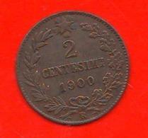 2 Centesimi 1900 Umberto I° Regno D'Italia 2 Cent Savoia Italy - 1861-1946 : Reino