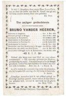 BRUNO VANDER HEEREN - Priester Geb. Iseghem 1806 - Onderpastoor Desselghem - Poelcapelle - Cuerne - Zonnebeke - +1878 - Overlijden