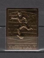 Football / Soccer / Fussball - WM 1970:  Ras Al Khaima  Goldmarke **, Perf. - Fußball-Weltmeisterschaft