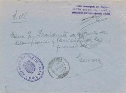 34253. Carta S.N. Franquicia Juzgado De Paz BOLVIR (Gerona) 1959. Fechador Puigcerda - 1931-Hoy: 2ª República - ... Juan Carlos I