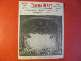 BUVARD - TOURNEE RENSY - OPERA - BRUXELLES - Format : 16 X 13 Cm - Cinéma & Theatre
