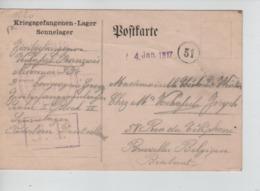 PR7446/ CP PDG-POW-KFS Camp De Paderborn 31/12/1916 Censure Du Camp > BXL - WW I