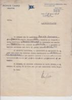 NAPOLI ACHILLE LAURO LETTERA ATTESTATO FUOCHISTA TORRE DEL GRECO CON FIRMA P.P.  ARMATORE 1948 - Historical Documents