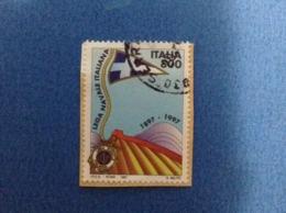 1997 ITALIA FRANCOBOLLO USATO STAMP USED LEGA NAVALE ITALIANA - 6. 1946-.. Repubblica
