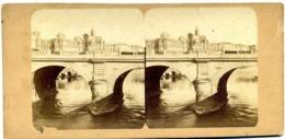 Photos Stéréoscopiques - Paris - Pont Notre Dame - Arche Du Diable En  1858 -  B 29 - Stereoscopio