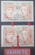 R1949/1262 - 1956 - AMITIE FRANCE / AMERIQUE LATINE - N°1060 NEUF** - VARIETE ➤➤➤ Lettres Et Chiffres évidés - Variétés: 1950-59 Neufs