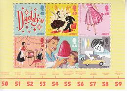 2016 Jersey The 50's Music Dancing   Souvenir Sheet  Complete Set Of 1  MNH @ BELOW Face Value - Muziek