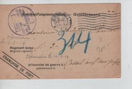 PR7448/ CP PDG-POW-KFS Interné C.BXL 1917 > Cassel(Kassel) Censure Geprüft - WW I