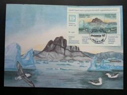 Greenland Hafnia Birds 1987 (miniature FDC) *Hafnia '87 - Groenland