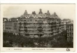 Carte Postale Barcelona - Paseo De Gracia 92, La Pedrera - Barcelone, Construction Antoni Gaudi - Barcelona