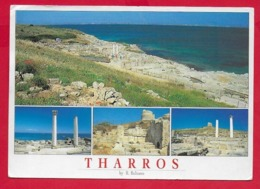 CARTOLINA VG ITALIA - CABRAS (OR) - THARROS - Vedutine Multivue - 12 X 17 - 1997 - Oristano