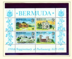BERMUDA  -  1970 Parliament Miniature Sheet Unmounted/Never Hinged Mint - Bermudes