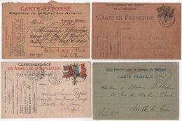 Carte Franchise Militaire Lot De 17 Même Correspondance Debled Deville Les Rouen - Marcophilie (Lettres)